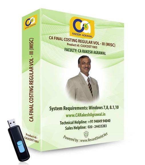 CA Final Costing Regular (VOL - III MISC)